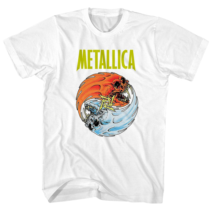 Metallica Fire And Ice Mens T Shirt White