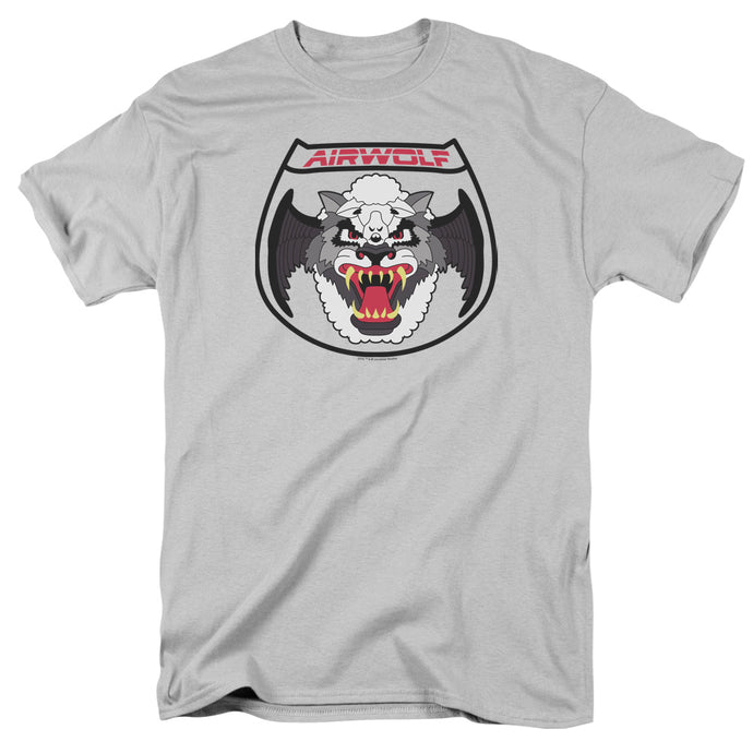 Airwolf Patch Mens T Shirt Silver