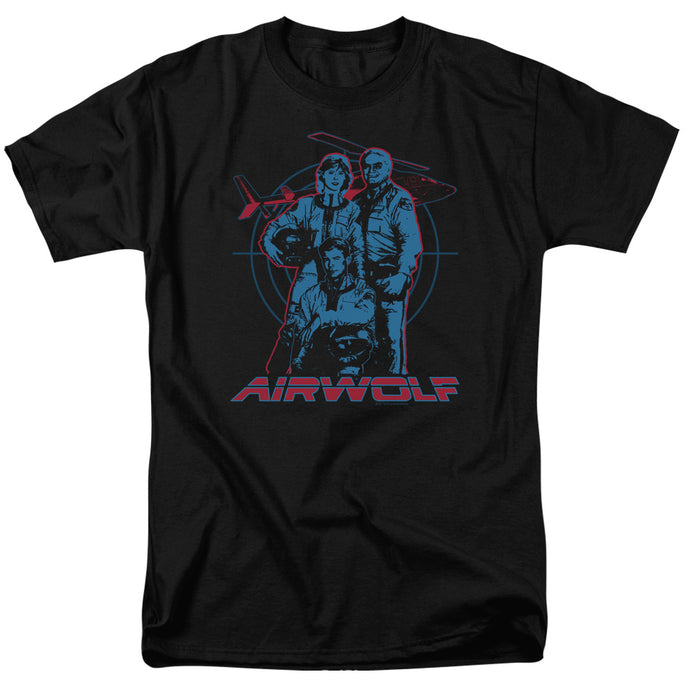 Airwolf Graphic Mens T Shirt Black
