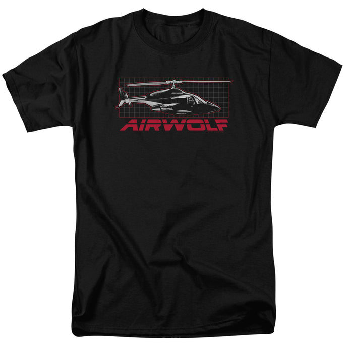 Airwolf Grid Mens T Shirt Black