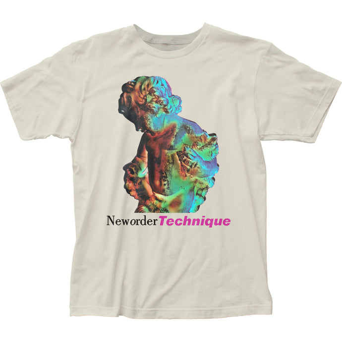 New Order Technique Mens T Shirt Vintage White