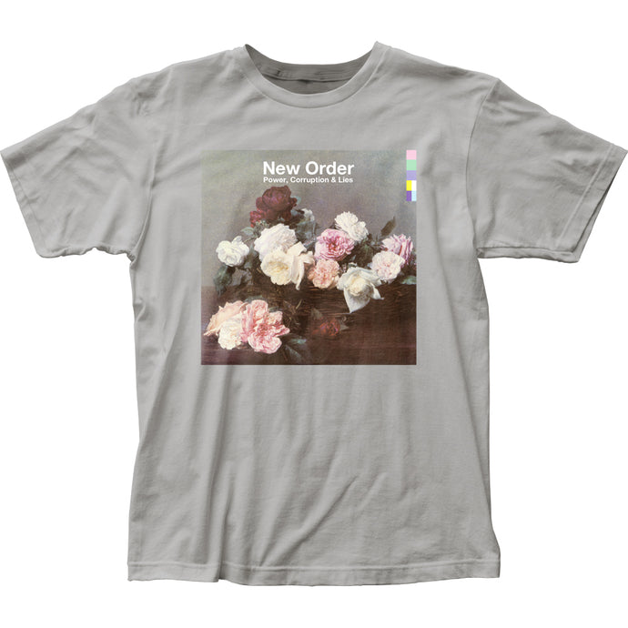 New Order Power Corruption & Lies Mens T Shirt Silver