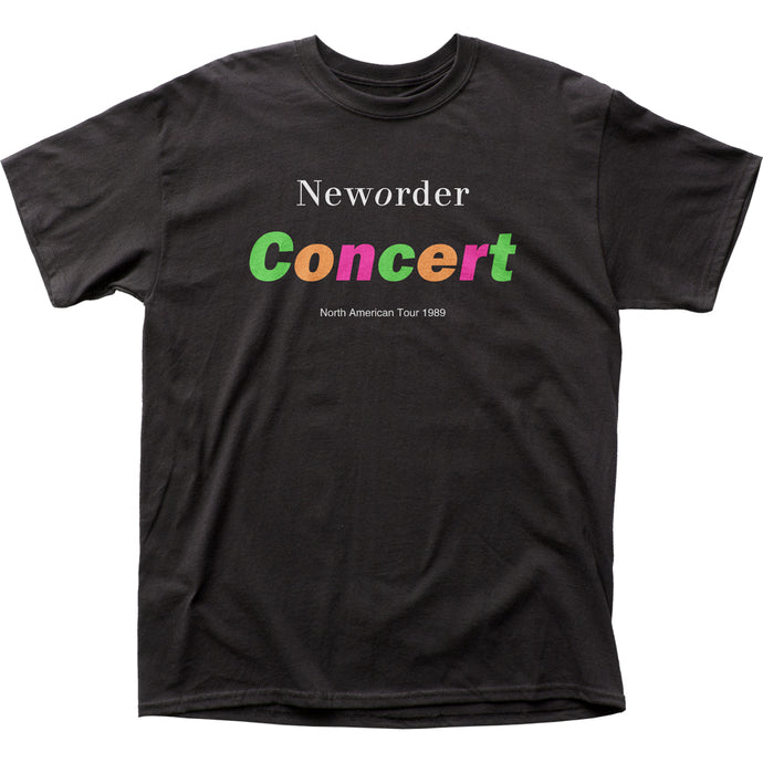 New Order Concert Mens T Shirt Black