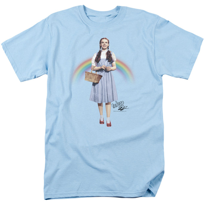 Wizard Of Oz Over The Rainbow Mens T Shirt Light Blue