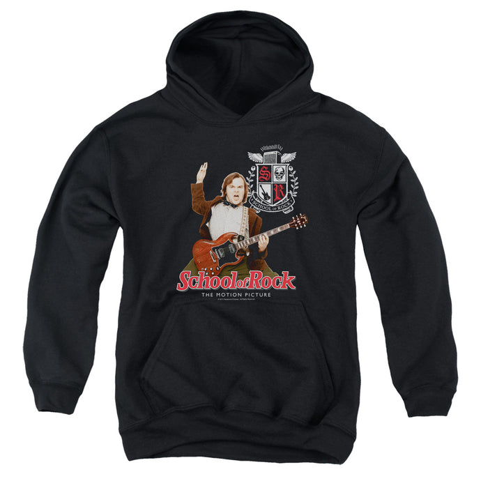 School Of Rock The Teacher Is In Kids Youth Hoodie Black