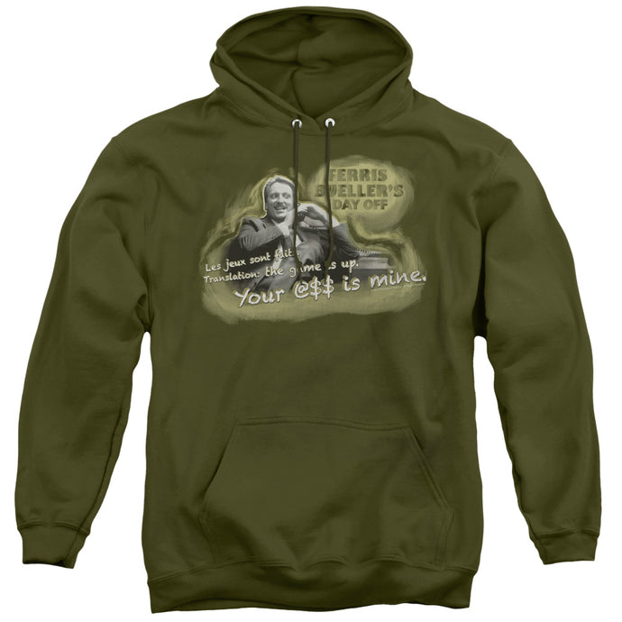 Ferris Buellers Day Off Mr. Rooney Mens Hoodie Military Green