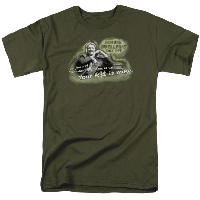Ferris Buellers Day Off Mr. Rooney Mens T Shirt Military Green