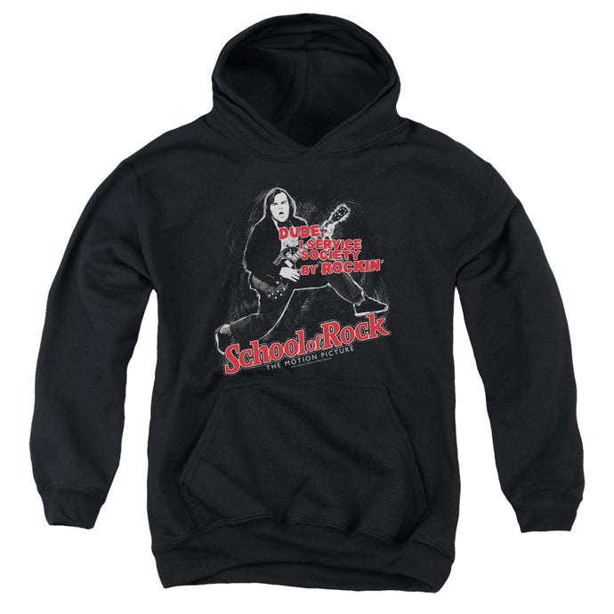 School Of Rock Rockin Kids Youth Hoodie Black