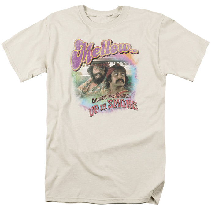 Up In Smoke Mellow Mens T Shirt Cream