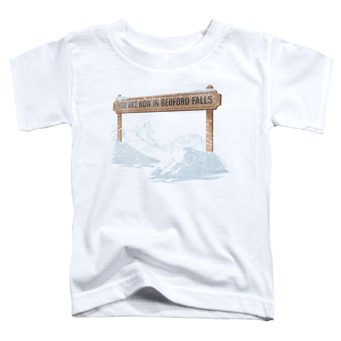 Its A Wonderful Life Bedford Falls Toddler Kids Youth T Shirt White