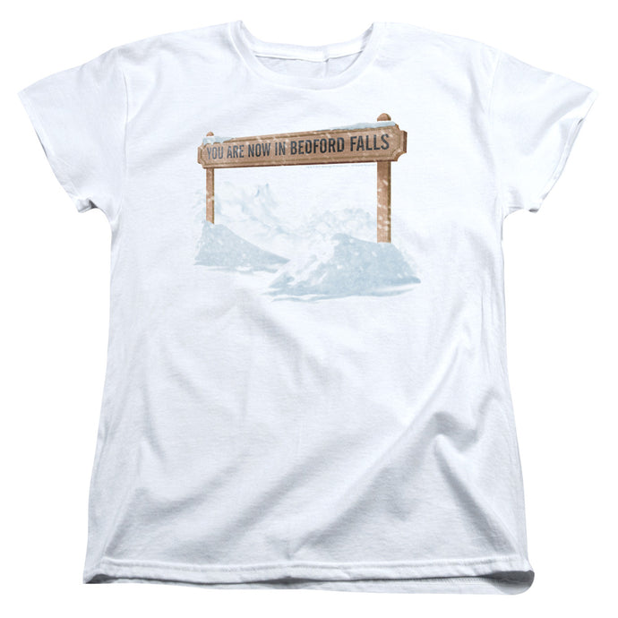 Its A Wonderful Life Bedford Falls Womens T Shirt White