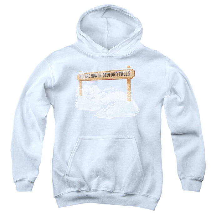 Its A Wonderful Life Bedford Falls Kids Youth Hoodie White