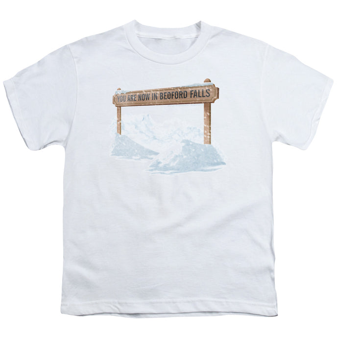 Its A Wonderful Life Bedford Falls Kids Youth T Shirt White