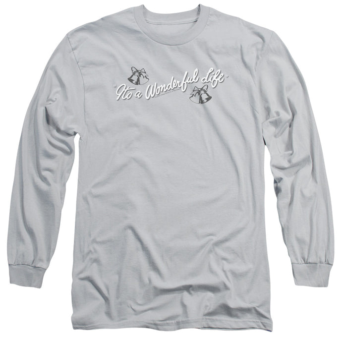 Its A Wonderful Life Logo Mens Long Sleeve Shirt Silver