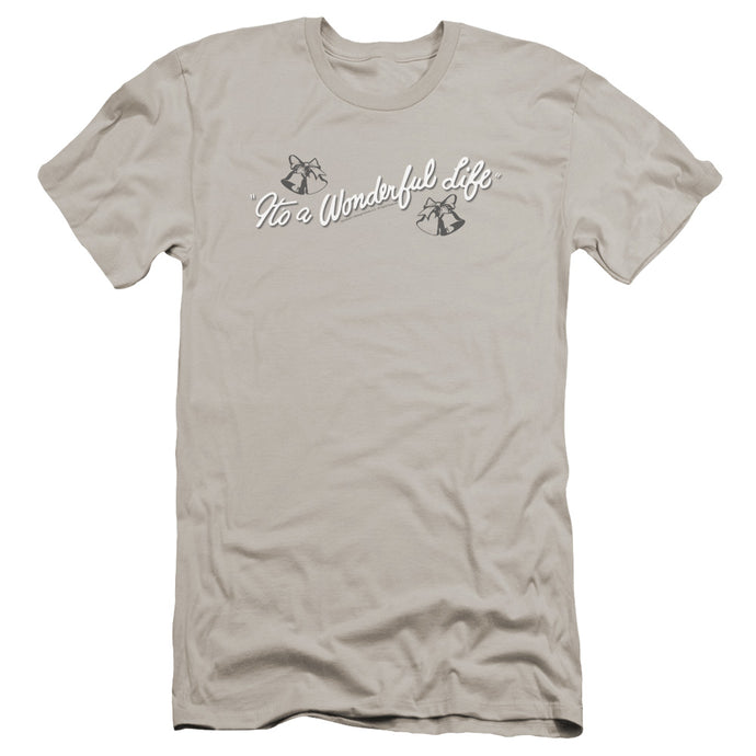 Its A Wonderful Life Logo Premium Bella Canvas Slim Fit Mens T Shirt Silver