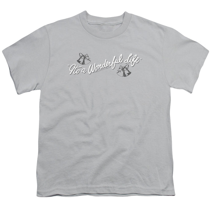 Its A Wonderful Life Logo Kids Youth T Shirt Silver