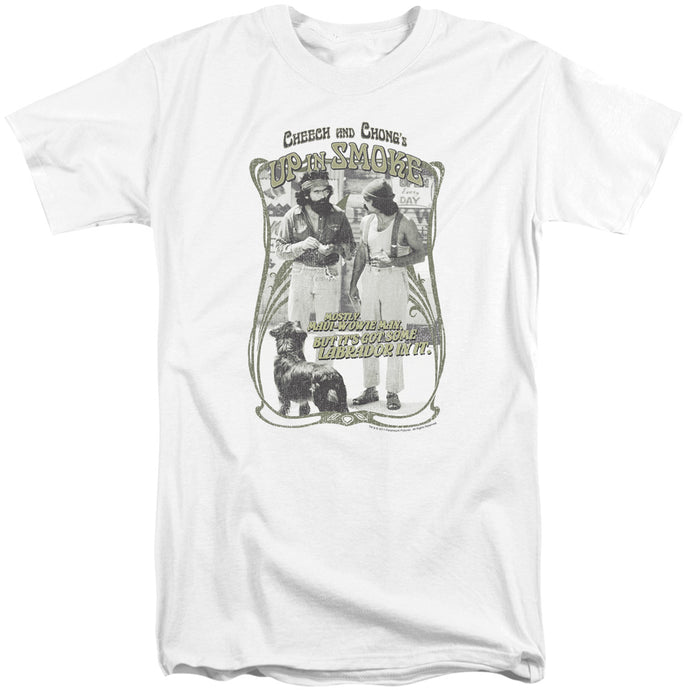 Up In Smoke Labrador Mens Tall T Shirt White