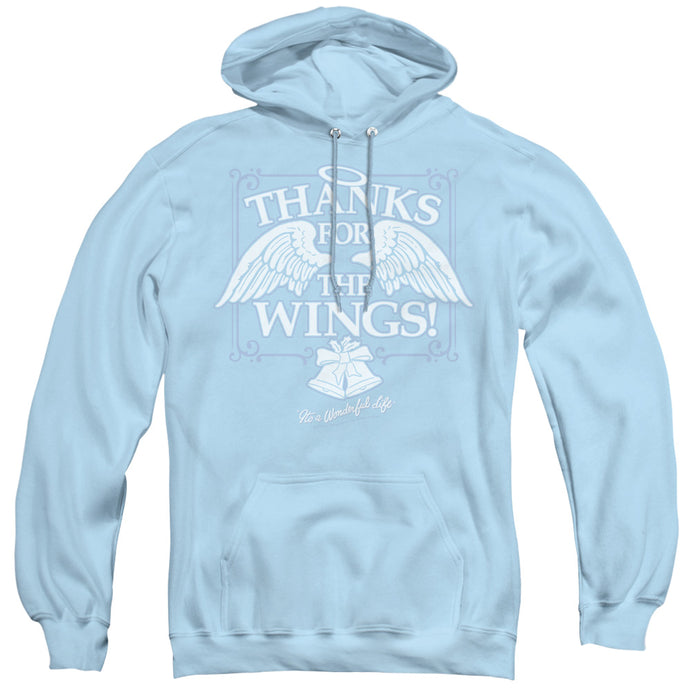 Its A Wonderful Life Dear George Mens Hoodie Light Blue