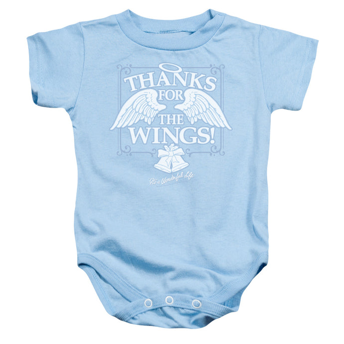 Its A Wonderful Life Dear George Infant Baby Snapsuit Light Blue