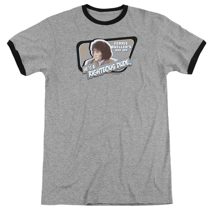 Ferris Buellers Day Off Grace Heather Ringer Mens T Shirt Heather