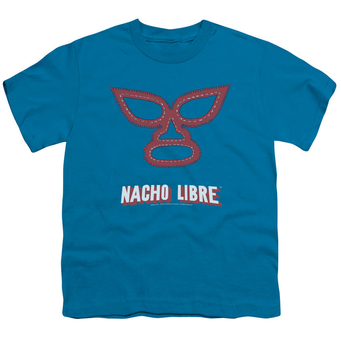 Nacho Libre Mask Kids Youth T Shirt Turquoise