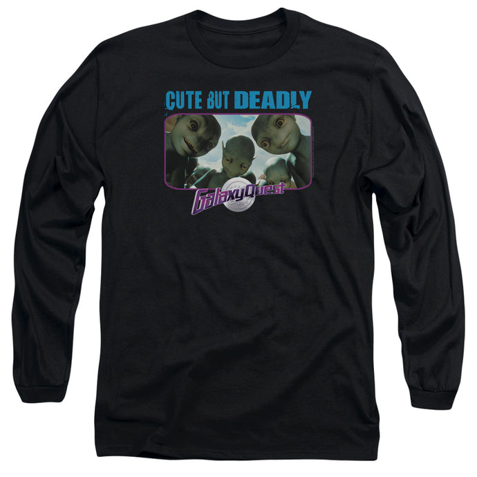Galaxy Quest Cute But Deadly Mens Long Sleeve Shirt Black