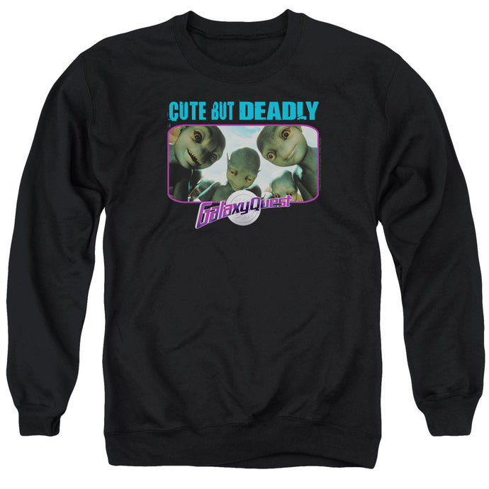 Galaxy Quest Cute But Deadly Mens Crewneck Sweatshirt Black