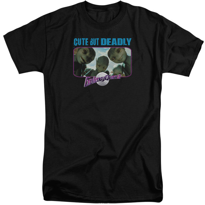 Galaxy Quest Cute But Deadly Mens Tall T Shirt Black