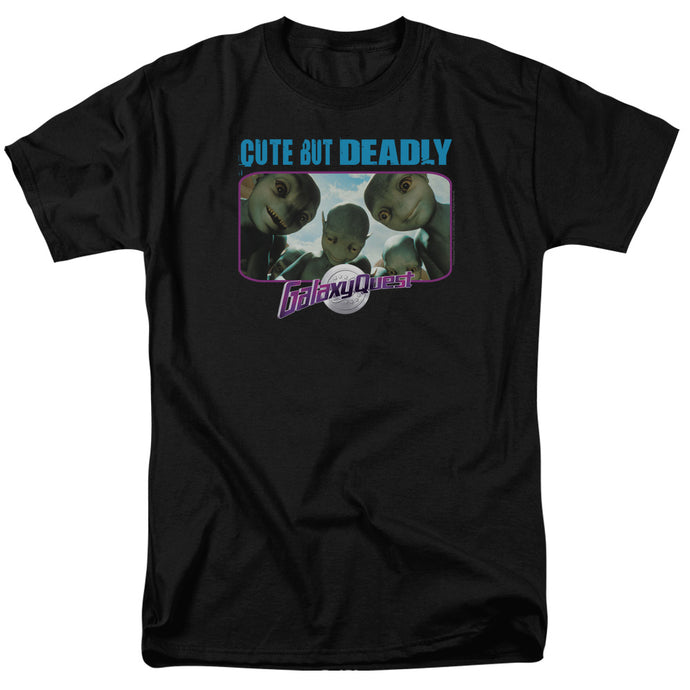 Galaxy Quest Cute But Deadly Mens T Shirt Black