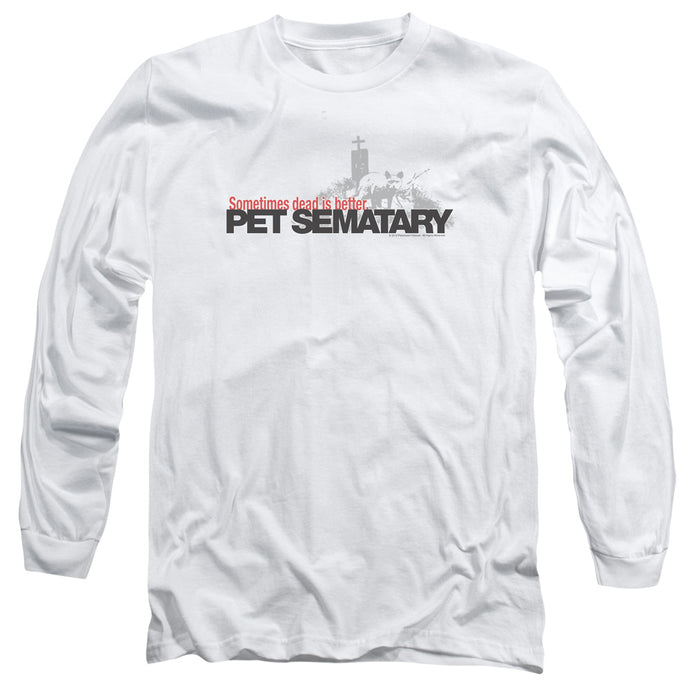 Pet Sematary Logo Mens Long Sleeve Shirt White