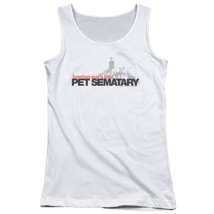 Pet Sematary Logo Womens Tank Top Shirt White