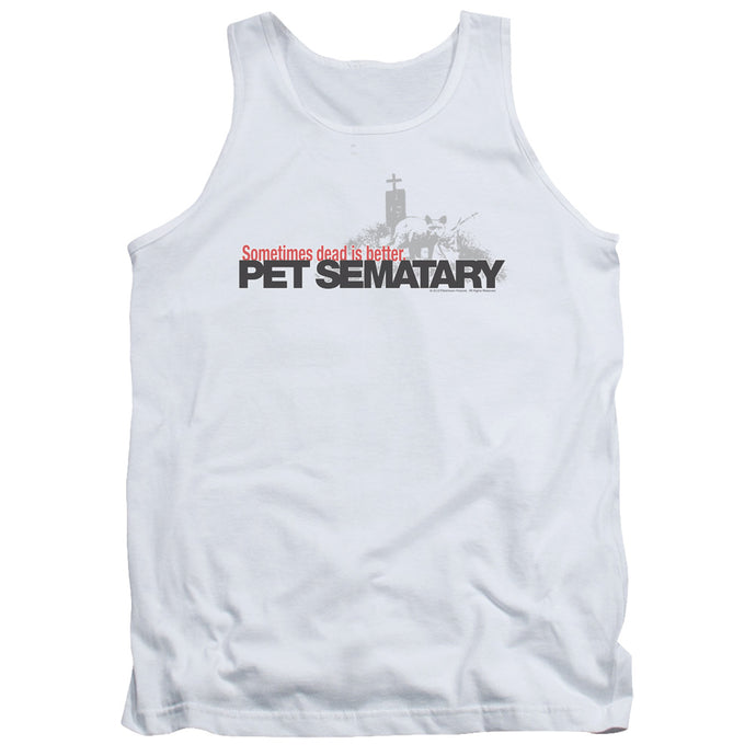 Pet Sematary Logo Mens Tank Top Shirt White