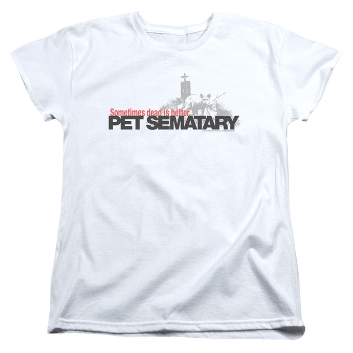 Pet Sematary Logo Womens T Shirt White
