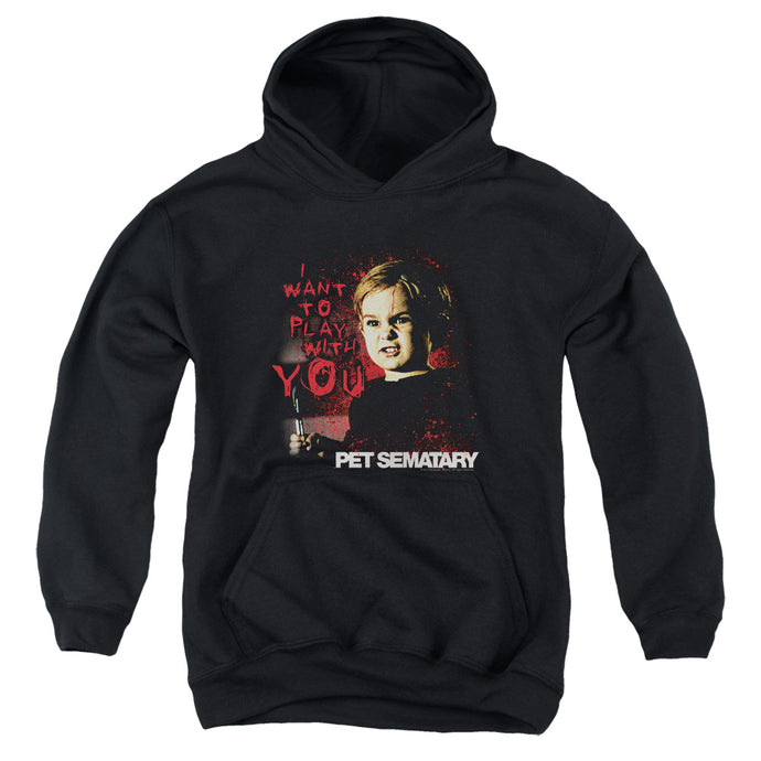 Pet Sematary I Want To Play Kids Youth Hoodie Black