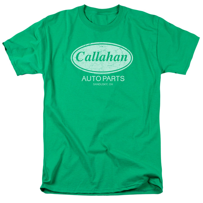 Tommy Boy Callahan Auto Mens T Shirt Kelly Green