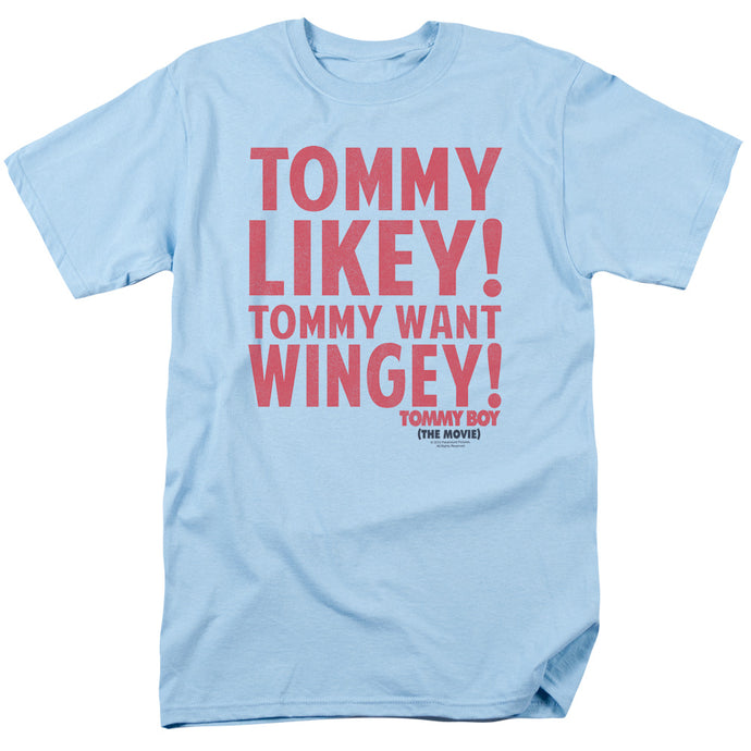 Tommy Boy Want Wingey Mens T Shirt Light Blue