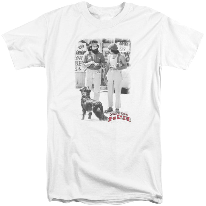 Up In Smoke Square Mens Tall T Shirt White