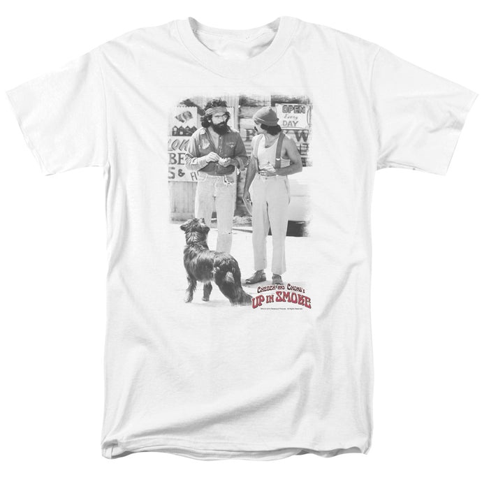 Up In Smoke Square Mens T Shirt White