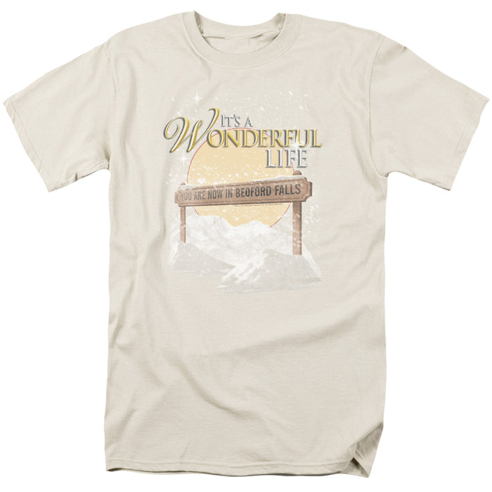 Its A Wonderful Life Wonderful Story Mens T Shirt Cream
