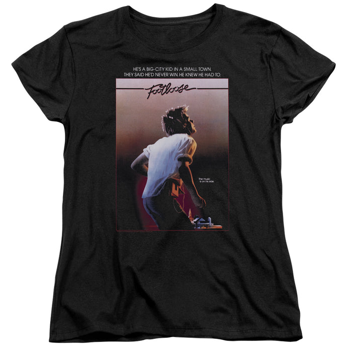 Footloose Poster Womens T Shirt Black