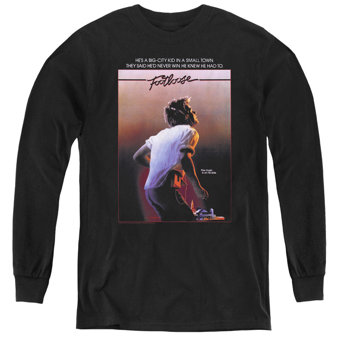 Footloose Poster Long Sleeve Kids Youth T Shirt Black
