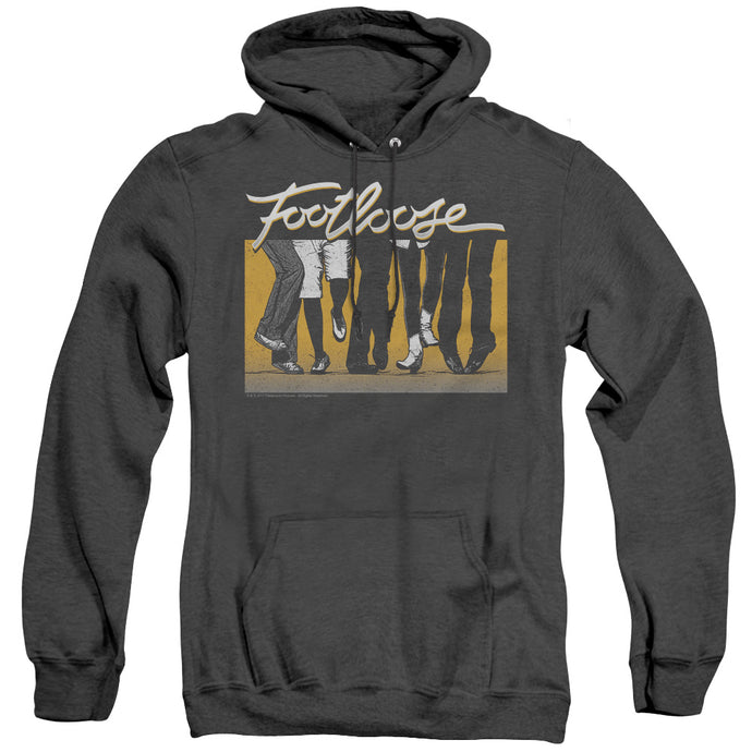 Footloose Dance Party Heather Mens Hoodie Black