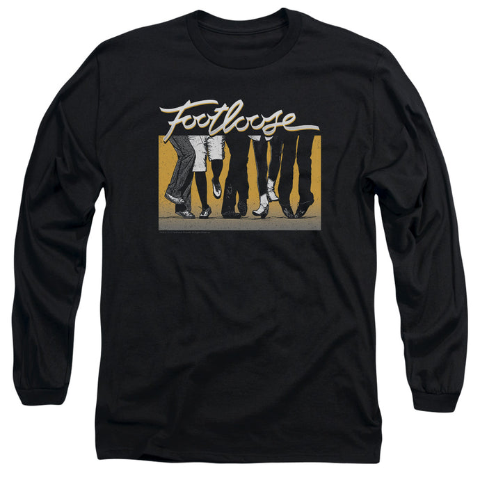 Footloose Dance Party Mens Long Sleeve Shirt Black
