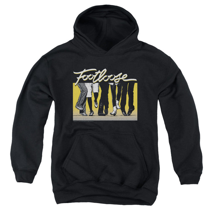 Footloose Dance Party Kids Youth Hoodie Black