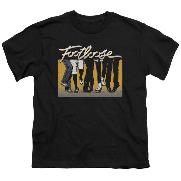 Footloose Dance Party Kids Youth T Shirt Black