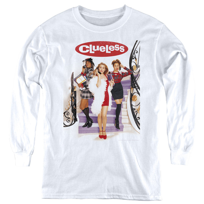 Clueless Clueless Poster Long Sleeve Kids Youth T Shirt White
