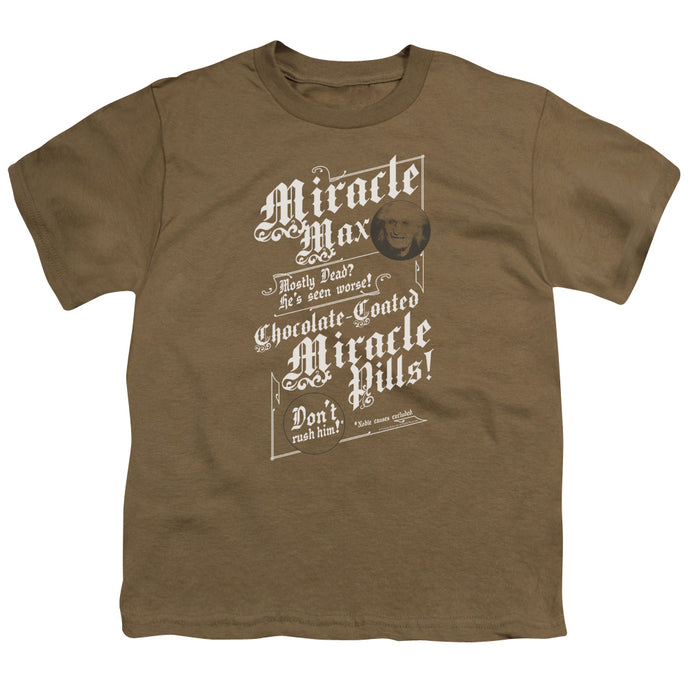 The Princess Bride Miracle Max Kids Youth T Shirt Safari Green