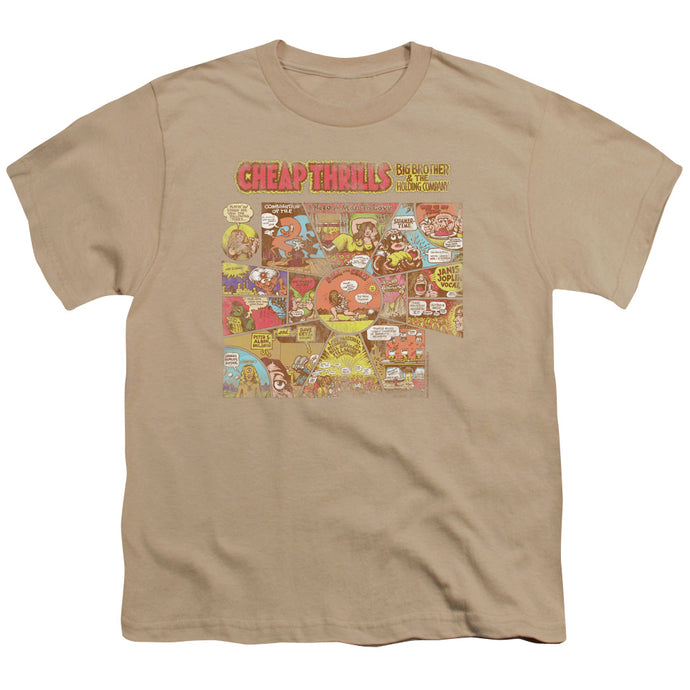 Big Brother And The Holding Company Cheap Thrills Kids Youth T Shirt Sand