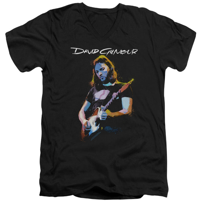 David Gilmour Guitar Gilmour Mens Slim Fit V-Neck T Shirt Black