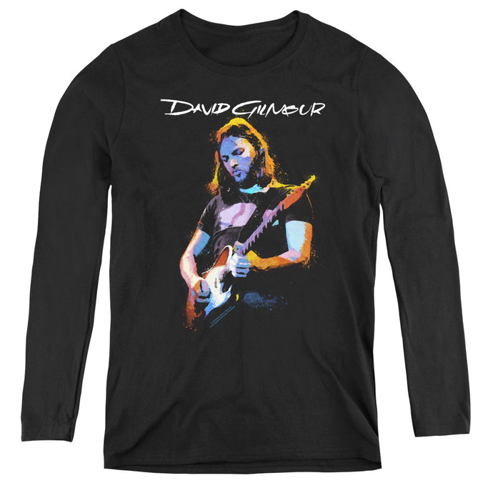 David Gilmour Guitar Gilmour Womens Long Sleeve Shirt Black